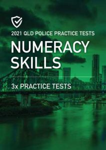 Cover image of the Numeracy Skills Queensland Police Practice Tests